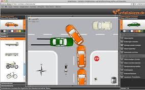 Verkehrsrecht: Unfallskizze zeichnen, Unfallberichte mehrsprachig